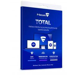 F-secure Total 1 Vuosi/3 Laitetta