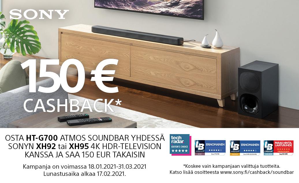 Ostaessasi HTG700 soundbarin saat jopa 150€ takaisin!