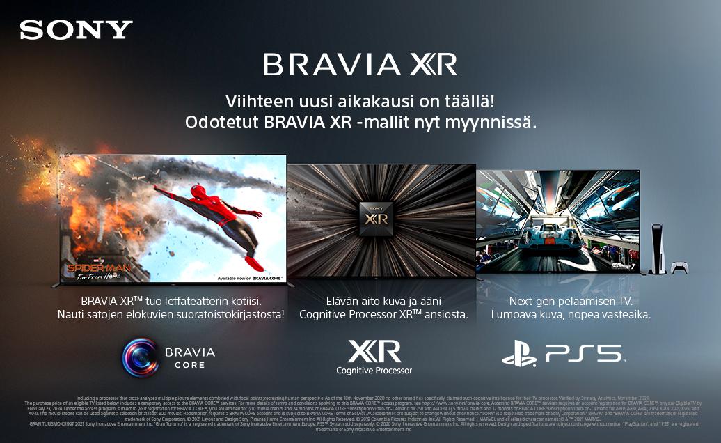 Uudet Bravia XR -televisiomallit