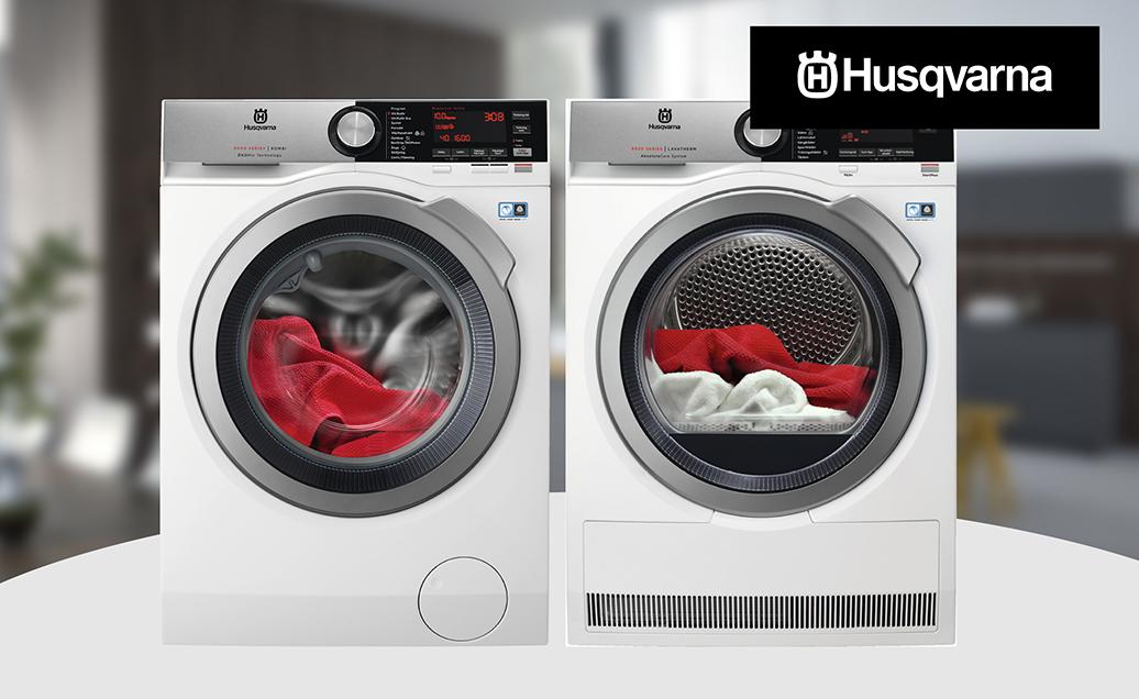 Laadukkaat Husqvarna pesukoneet ja kuivausrummut