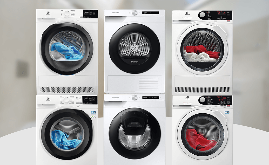 Suosituimmat pesukoneet ja kuivausrummut pakettihinnoilla